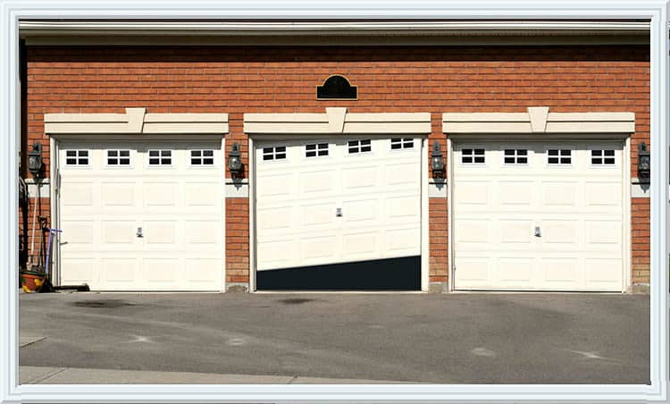 garage door off track Sugar Land